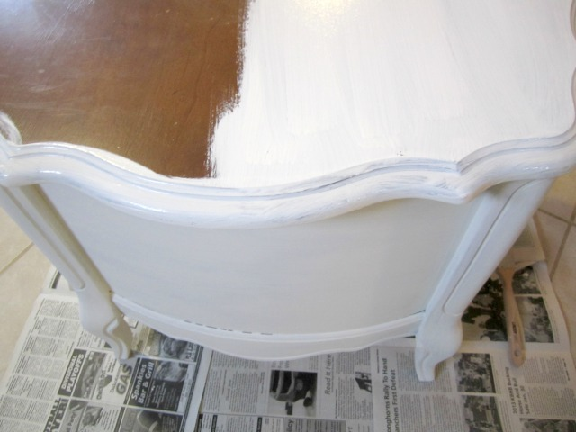 The first coat in progress
