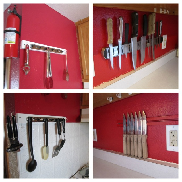 kitchen rack Collage