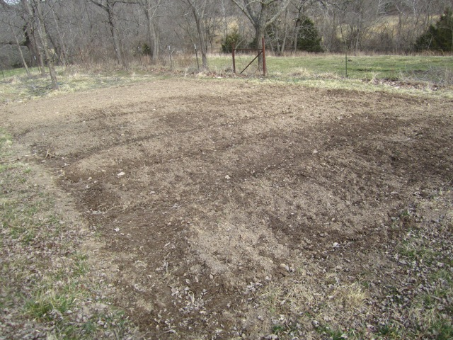 One of the most level spots in our yard, we hope to grow pumpkins, corn and melons here once the ground warms a little more.